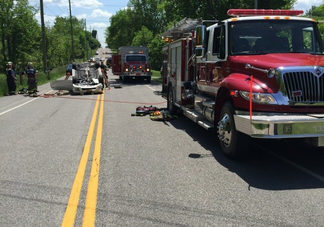 Union Hill responds to Vehicle Roll-over