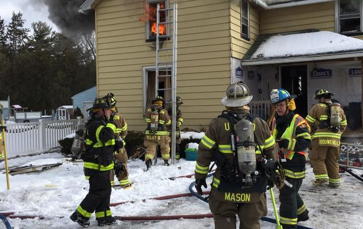 UHFD responds mutual-aid for House Fire