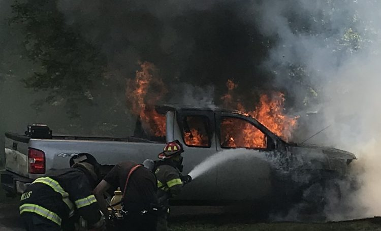 Union Hill Responds To Vehicle Fire