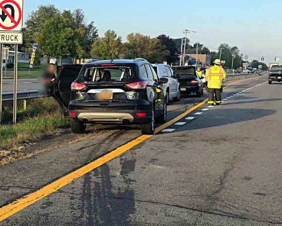 Union Hill Responds to Multi Vehicle Incident on Rt.104